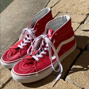 Red High Top Vans